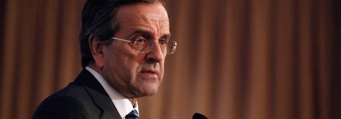 Das Wirtschaft ist schwach und braucht das Geld: Antonis Samaras.