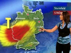 Constance Ahlers aus der n-tv Wetterredaktion erklärt das Windbild.