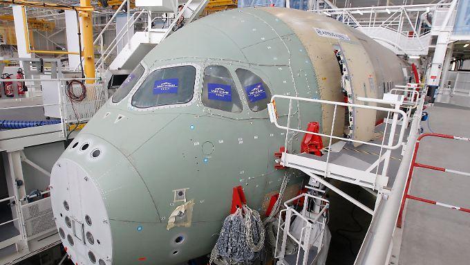 In Toulouse wird der A350 endmontiert.