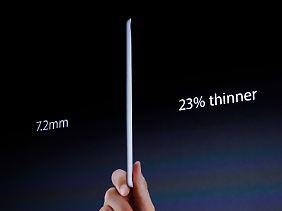 Das iPad mini ist so dünn wie ein Bleistift