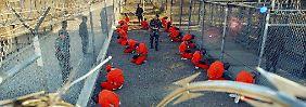 Gefangene im Lager Guantánamo.