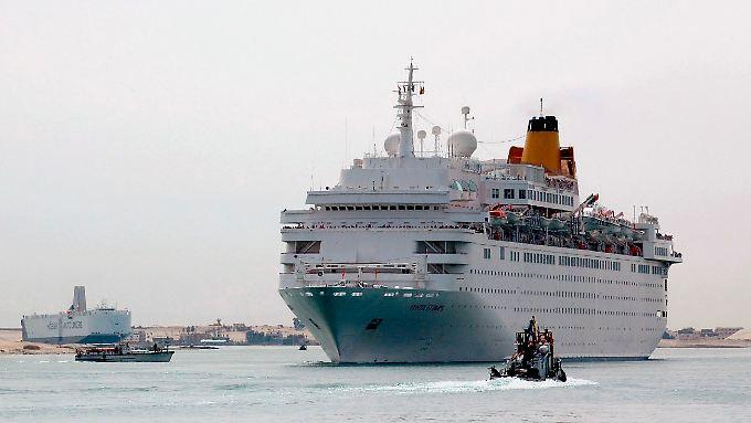 "Das Kreuzfahrtschiff ""Costa Allegra"" steuert auch die Felsenstadt Petra an."