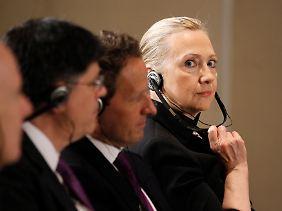 Sie bleibt vielleicht im Amt: Außenministerin Hillary Clinton.