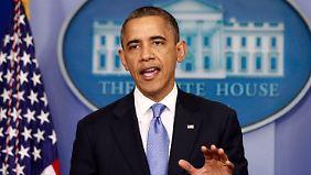 """Obama sagt Wahlkampftermine ab: """"Es geht darum, Leben zu retten"""""""