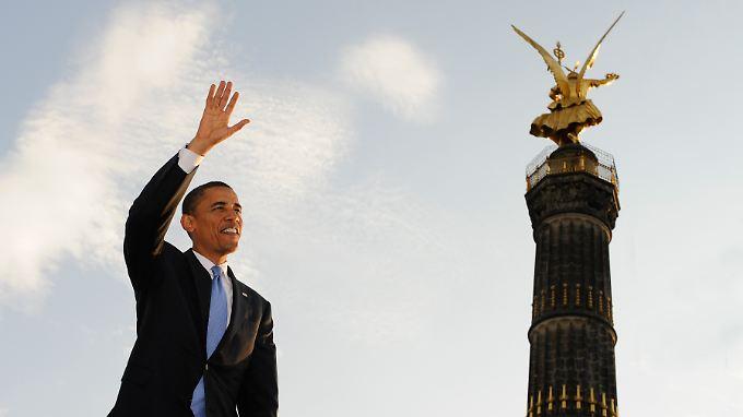 Obama ist, erst recht durch seinen Berlin-Besuch im Jahr 2008, beliebt in Deutschland.