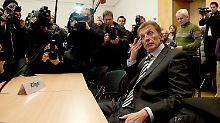 Amerell vor der Verhandlung im Landgericht München im März dieses Jahres. Damals einigten sich Amerell und der DFB schließlich außergerichtlich.