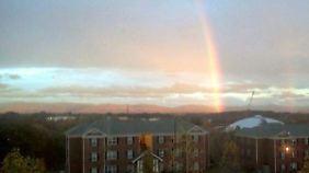 Der Regenbogen nach dem Sturm.