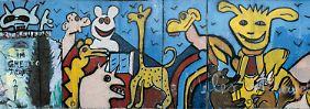 Zootiere und Aliens im Ghetto: 1984-86, Bethaniendamm nahe Adalbertstraße: Bilder von Christophe Bouchet und Thierry Noir.