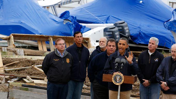 Barack Obama ist nicht nur der Helfer in der Not...