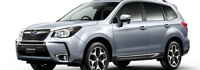 Neuer Subaru Forester in der Top-Version 2.0XT, im Bild mit japanischer Spezifikation als Rechtslenker. Optisch soll sich die deutsche Version kaum von diesem Modell unterscheiden.