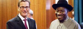 Guido Westerwelle mit Goodluck Ebele Jonathan.