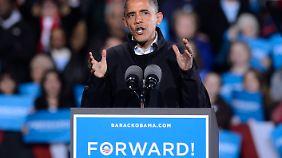 Hauchdünner Vorsprung in Swing States: Obama in Umfragen vorne