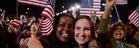 USA entscheiden über Präsidenten: Erste Schlangen vor den Wahllokalen