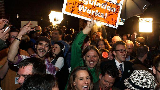 In Denver, Colorado, feiern Befürworter die Freigabe von Marihuana.