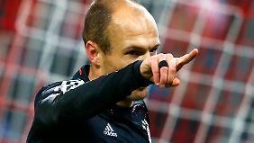 Sammelte auch mal wieder ein Erfolgserlebnis ein: Arjen Robben.