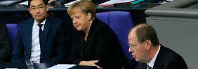 """""""In einem inneren Dialog"""" dürfte Merkel doch selbst wissen, """"dass dieses Gesetz nicht zukunftstauglich ist"""", sagt Steinbrück."""