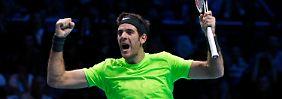 Mit viel Klasse und etwas Glück setzte sich Juan Martin Del Potro gegen Roger Federer durch.