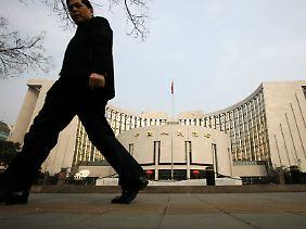 """Repräsentatives Hauptgebäude: Die """"Bank des chinesischen Volkes"""" (PBoC)."""
