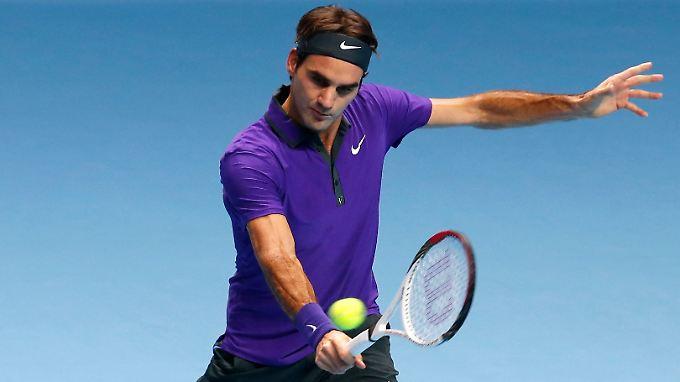 Federer ließ sich vom Publikum elektrisieren.