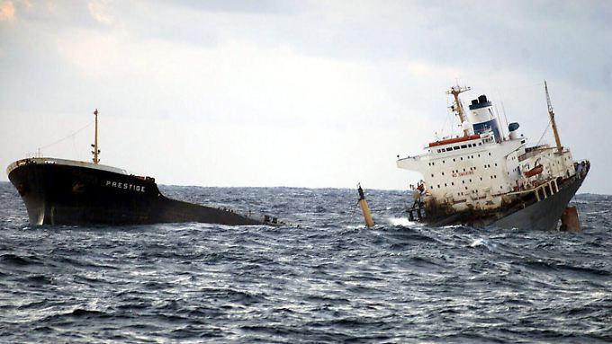 """Der Untergang der """"Prestige"""" war die schlimmste Umweltkatastrophe in der Geschichte Spaniens."""