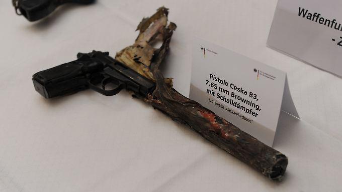 Diese Ceska 83  wurde bei Ermittlungen gegen das NSU-Trio gefunden.