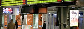 Bahnhof Brüssel-Süd bei einem früheren Streik.