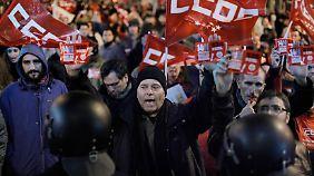 Protest gegen Sparpolitik: Generalstreik legt Süd-Europa lahm