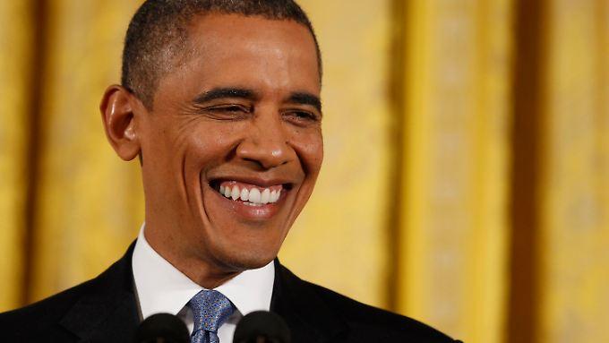Barack Obama bei seiner ersten Pressekonferenz seit der Wahl.