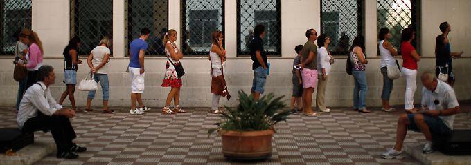 Arbeitssuchende im spanischen Marbella.