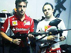 """""""Bereit für die letzten zwei Rennen"""": Fernando Alonso und Teamkollege Felipe Massa."""