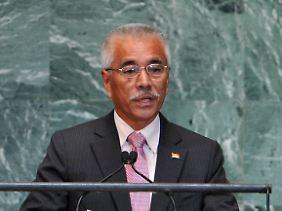 Präsident Anote Tong im vergangenen September vor der UN-Vollversammlung in New York.