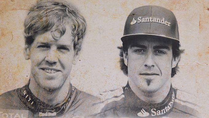 Weltmeister gesucht: Sebastian Vettel und Fernando Alonso.