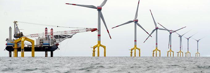 Rund 90 Kilometer nordwestlich von Borkum: Das Projekt Bard Offshore 1 wächst.