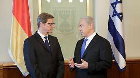 Westerwelle und Netanjahu.