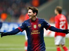 Lionel Messi kommt nun auf unglaubliche 80 Treffer im Jahr 2012 - und das ist noch lange nicht vorbei.