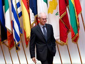 EU-Ratspräsident Herman Van Rompuy muss viele verschiedene Stimmen unter einen Hut bekommen.