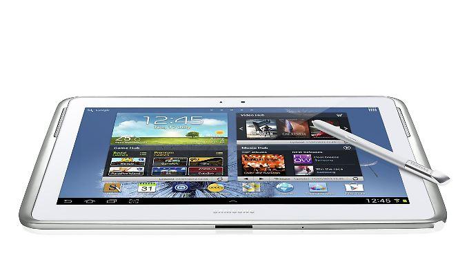 Tablets im Test: Samsung Galaxy Note sticht Apples iPad aus
