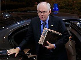 Der Chefvermittler: Herman Van Rompuy.