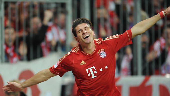 Mario Gomez wurde in der 66. Minute eingewechselt. 25 Sekunden später hatte er zum 5:0 gegen Hannover 96 getroffen.