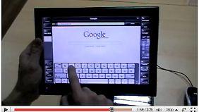 Ein Video soll beweisen, dass es ein funktionierendes WePad gibt.