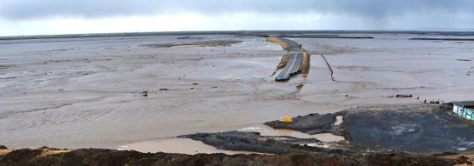 Der schmelzende Gletscher hat in Island für schwere Überschwemmungen gesorgt.