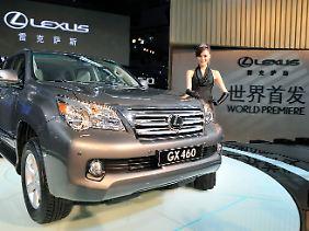 Der Lexus GX 460, hier bei seiner Weltpremiere auf der Automesse im chinesischen Guangzhou.