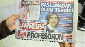 """Die Türken sind stolz: Die Zeitung """"SABAH"""" mit Özkan auf der Titelseite."""