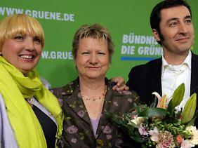 Die Grünen freuen sich über ein fantastisches Ergebnis - auch wenn sie hinterher vielleicht doch nicht auf der Regierungsbank sitzen.