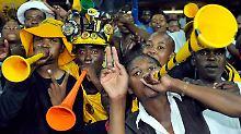 Elemtares Untensil der sädafrikanischen Schlachtenbummler: Die Vuvuzela.