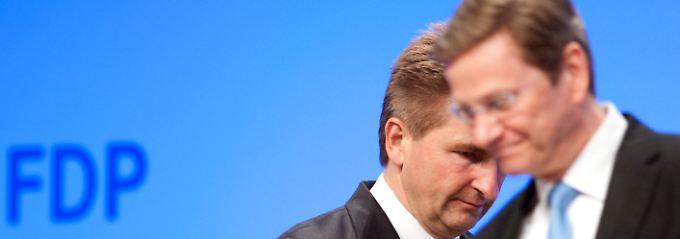 Pinkwart und Westerwelle möchten auf ihren jeweiligen Position weiter an der Macht bleiben.