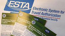 Merkblätter zum elektronischen Reisegenehmigungssystem ESTA.