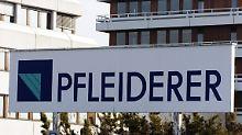 Pfleiderer ist derzeit der größte Sanierungsfall in Deutschland.