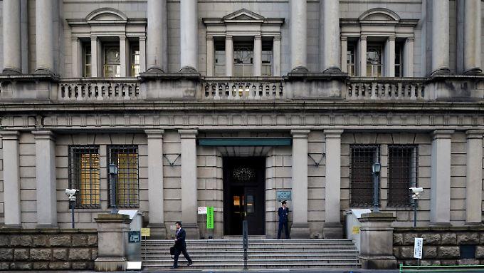 Die Bank of Japan in Tokio lenkt möglicherweise diese Woche ein.