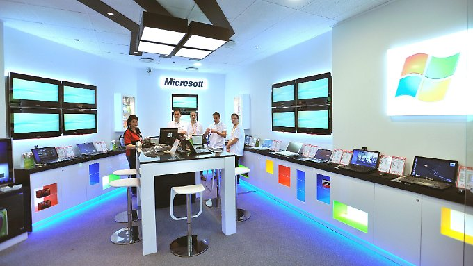 Microsoft-Store in Budapest.